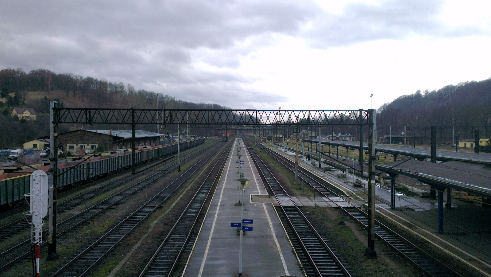 Looking north over the rail yard
