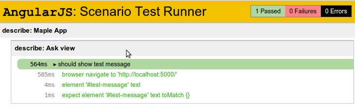 Angular's end-to-end test runner